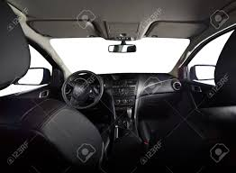 Modern Interior Of Pickup Truck With Isolated Windows And Leather ...