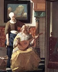 Johannes Vermeer The Love Letter detail WGA