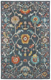 oriental weavers zahra 75501 blue gold area rug