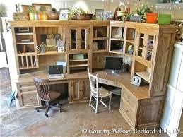 home office furniture corner desk. Desk Oak Pedestal Corner Office Furniture Wood Home . Desks Modern P