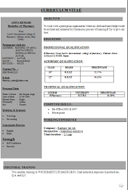 B Pharmacy Resume Format For Freshers Resume Samples For Pharmacy