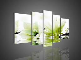 5 panel wall art no framed modern abstract acrylic flower magnolia green oil painting on canvas pictures decor picture in painting calligraphy from home  on green wall art decor with 5 panel wall art no framed modern abstract acrylic flower magnolia