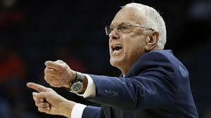 southern methodist university head coach larry brown directs his players in the first half of an