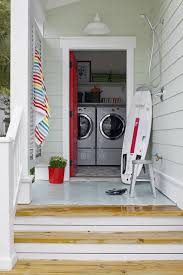outdoor shower laundry beach style