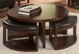 beautiful round coffee table with stools underneath coffee table with regard to round coffee table