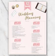 Printable Wedding Planner 1 Year Printable Wedding Planner Checklist Pink Free