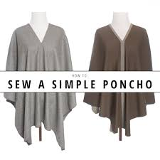 Poncho Sewing Pattern Interesting How To Sew A Simple Poncho