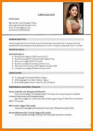 Resume Format 2017 Adorable 60 Latest Cv Format 60 India Sephora Resume Resume