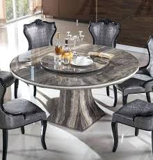marble top dining table with lazy round white white