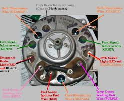 connection for the instrument cluster voltage regulator location