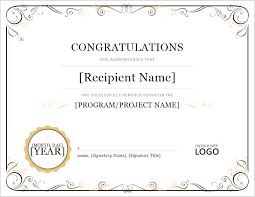 Congratulation Certificate 7 Free Congratulation Certificate Templates Format Example