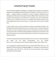 Consulting Proposal Template 18 Free Word Pdf Format