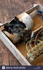explosive capacitor failure in borehole electric motor pump control unit