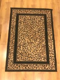 round animal print rugs area rug cheetah neutral leopard skin carpet shabby for living room