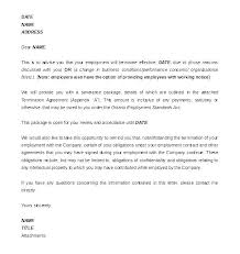Severance Package Letter Template Severance Package Template