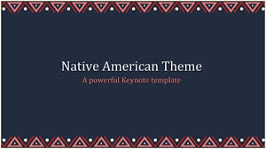 Native American Powerpoint Template Free