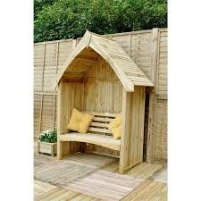 outdoor living diy garden arbour seat