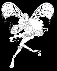 Aisha Stella Bloom Libro Da Colorare Colorare Winx Enchantix