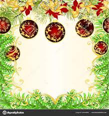 Weihnachten Und Neujahr Frame Dekoration Rote Und Goldene
