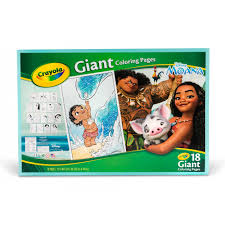 Small Picture Crayola Disneys Moana 18 Giant Coloring Pages Gift for Girls