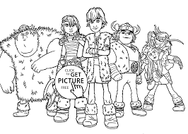 All Kids From How To Train Your Dragon Coloring Pages For Kids