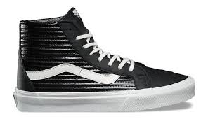 vans sk8 hi reissue moto leather black