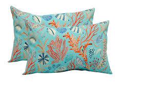 peach decorative throw pillows best of set of 2 in outdoor lumbar rectangular decorative pillows