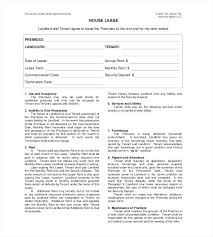 Standard Lease Agreements Amazing Lease Contract Template Pdf Srmunivco