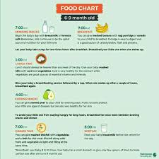 5 Month Old Baby Food Chart 5month 22days Old Baby Diet Chart