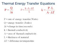 thermal energy transfer equations
