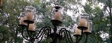outdoor candle chandelier decor innovative garden oasis