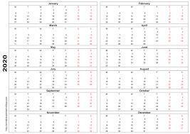 Printable Calendar 2020 Template Printable Calendar
