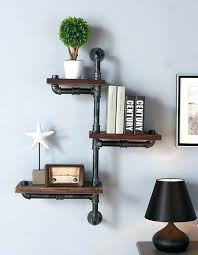 hanging wall shelves 3 wood floating shelf with command strips hook diy like this item floa