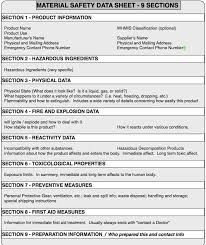chemical information sheet whmis material safety data sheet