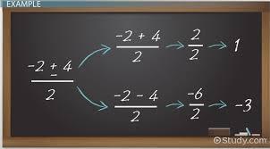 what is the quadratic formula definition equation proof lesson transcript study com