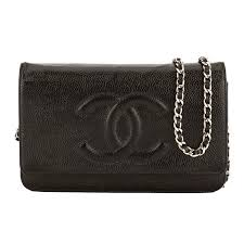 Chanel Black Quilted Caviar Leather Classic Wallet On Chain WOC ... & Chanel Black Quilted Caviar Leather Classic Wallet On Chain WOC Bag (P -  3788005 | LuxeDH Adamdwight.com