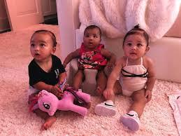 kim kardashian just shared a photo of all three triplet cousins