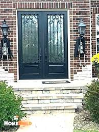 pella exterior doors co door cost entry doors french with custom wrought iron trim on the pella exterior doors
