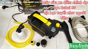 Dùng thử máy xịt rửa xe chỉnh áp Zukui S5 (Osaka ZJ) - 2400W tại Gia dụng  Huy Linh - YouTube