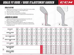 Shin Pad Size Chart Goalie Leg Pad Sizing Guide South Windsor Arena