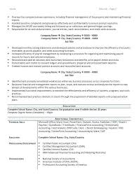 Sample Resume Of Accountant Accounting Resume Accountant Sample And