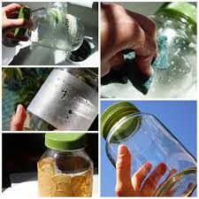 how to remove adhesive from glass bottle designs