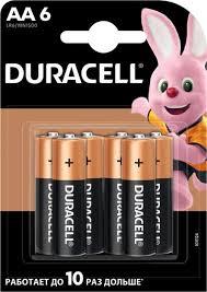 <b>Батарейки</b> щелочные <b>Duracell</b> Basic АА/LR6-6BL 6 штук — купить ...