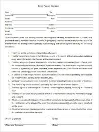 Free Wedding Planner Contract Templates 20 Wedding Planners Contract Template Simple Template Design