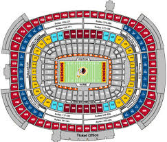 Abiding Redskin Stadium Seating Chart Washington Redskins