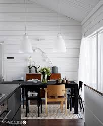 Long Kitchen Table At Rustic Dining Table Scandinavian Dining Room - Dining room light fixture glass