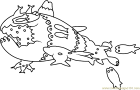 Small Picture Wishiwashi School Form Pokemon Sun and Moon Coloring Page Free