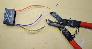 how to replace a ceiling fan motor capacitor Ceiling Fan 2 Wire Capacitor Wiring Diagram ceiling fan motor capacitor cbb61 strip the wires 2Wire Capacitor Ceiling Fan Wiring Diagram