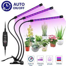 House Plant Led Grow Light Led Grow Light 30w Triple 3 Head Plant Lamp Timing Function Dimmable For Flower Vegetable Indoor Houseplant Greenhouse Growing