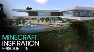 minecraft  modern mountain house  inspiration w keralis  youtube